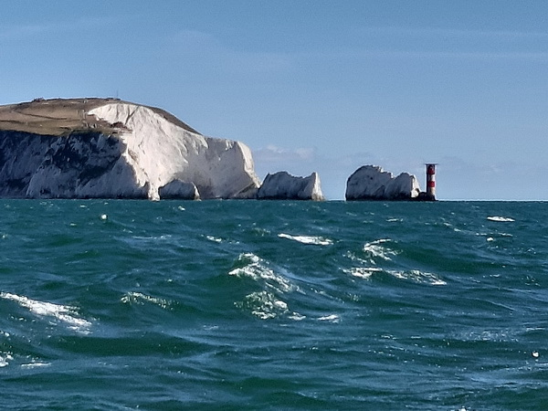 SY Montana, Swan 48 at the Needles
