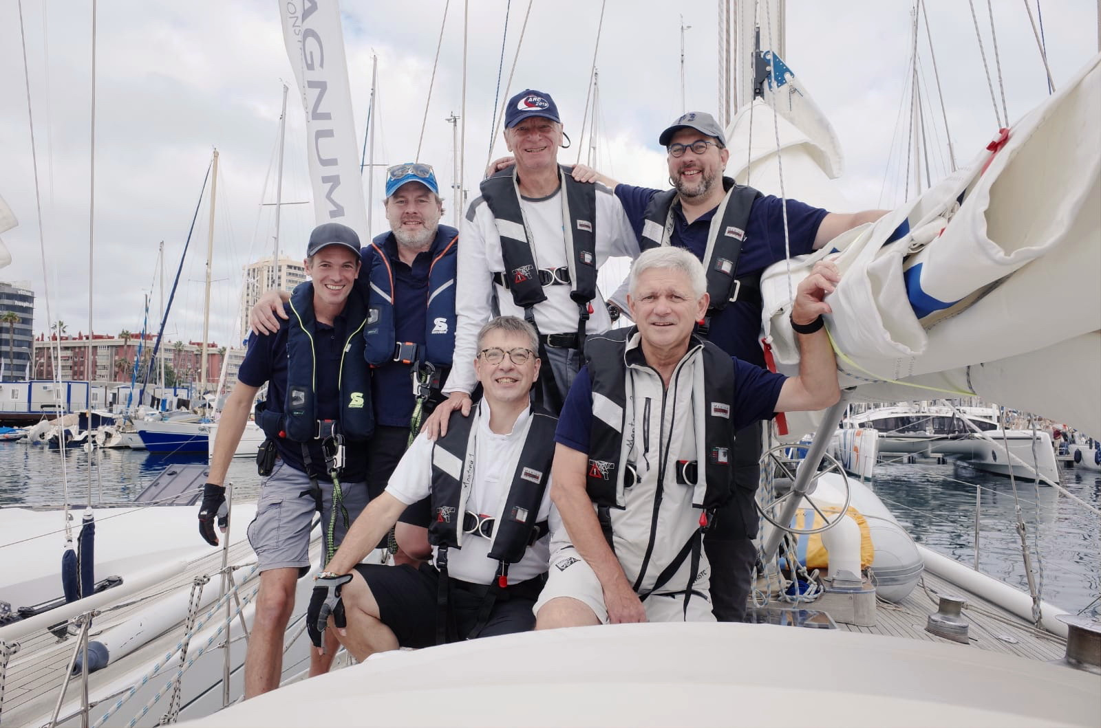 Markus Bocks and his ARC Crew 2019 on SY Montana, Swan48