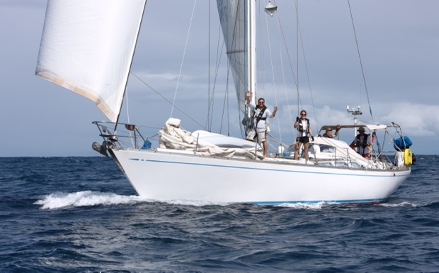 SY Montana, Swan 48 shortly before finish in St. Lucia at the ARC 2020